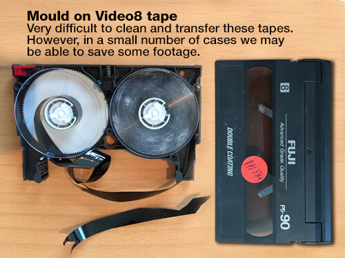 Mould on Video8 tape