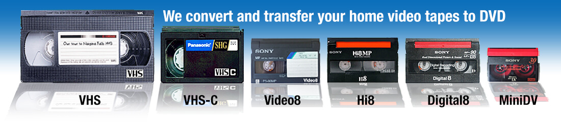 We can transfer your video to DVD