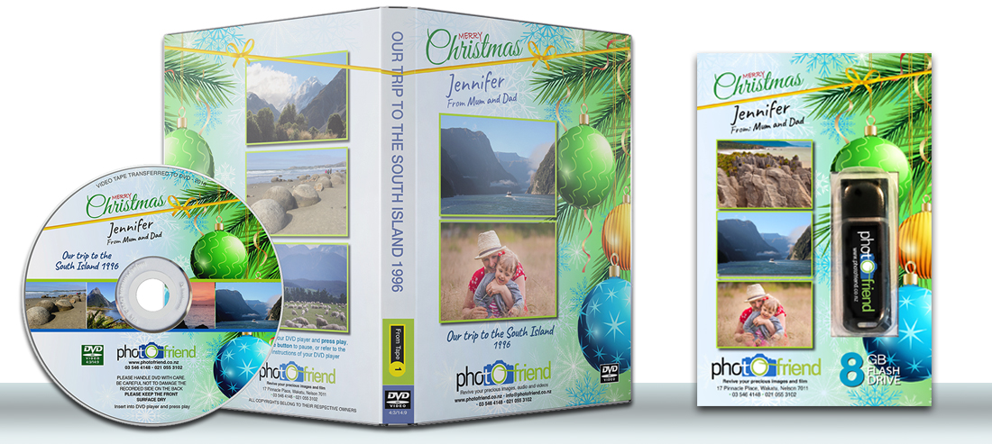 DVD and USB Christmas gift